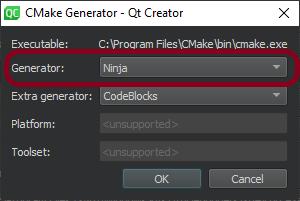 (Build times) CMake generator > Ninja