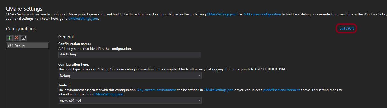 (Build times) Click Edit JSON